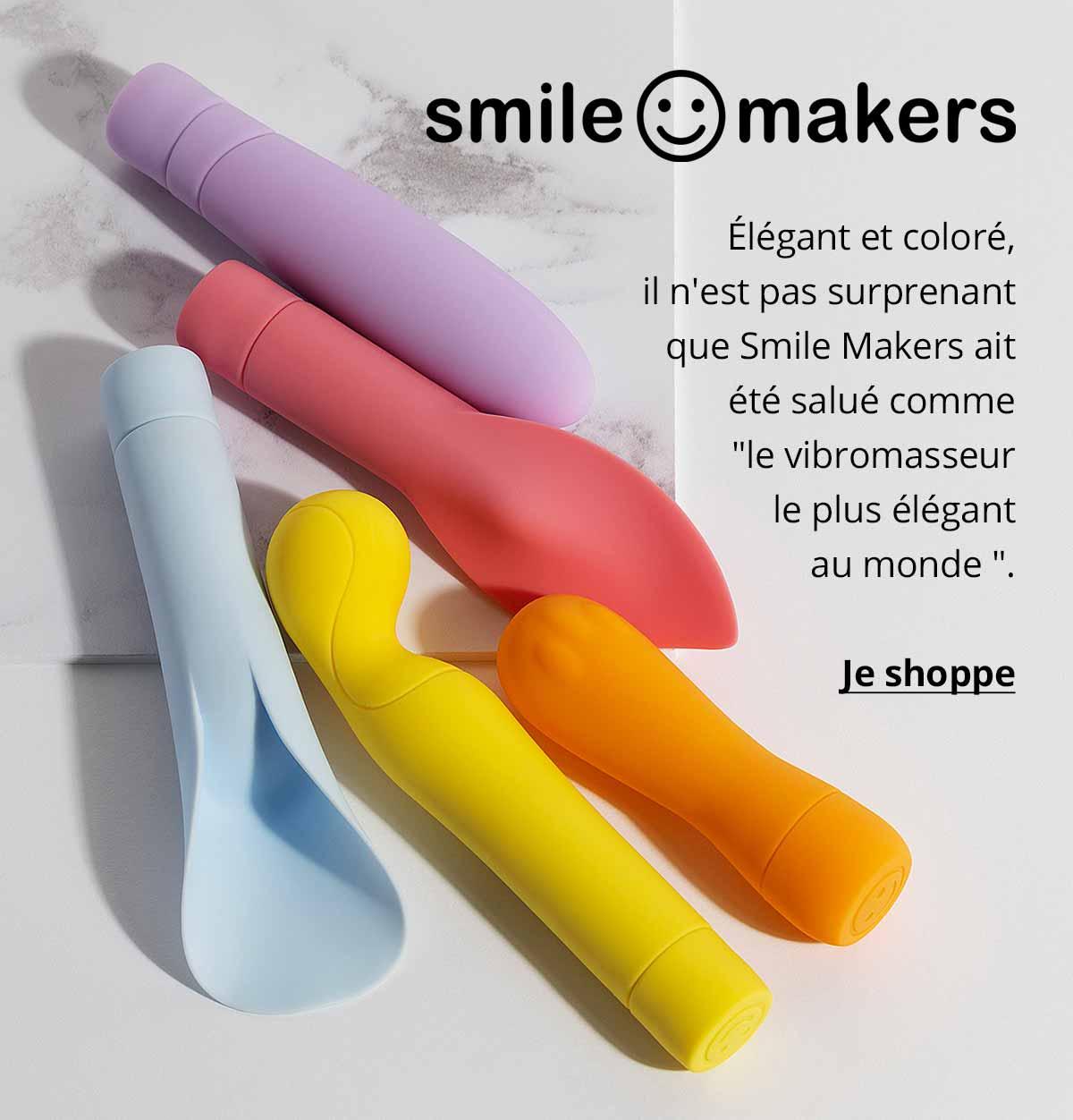 """Smile Makers - Élégant et coloré, il n'est pas surprenant que Smile Makers ait été salué comme """" le vibromasseur le plus élégant au monde """"."""