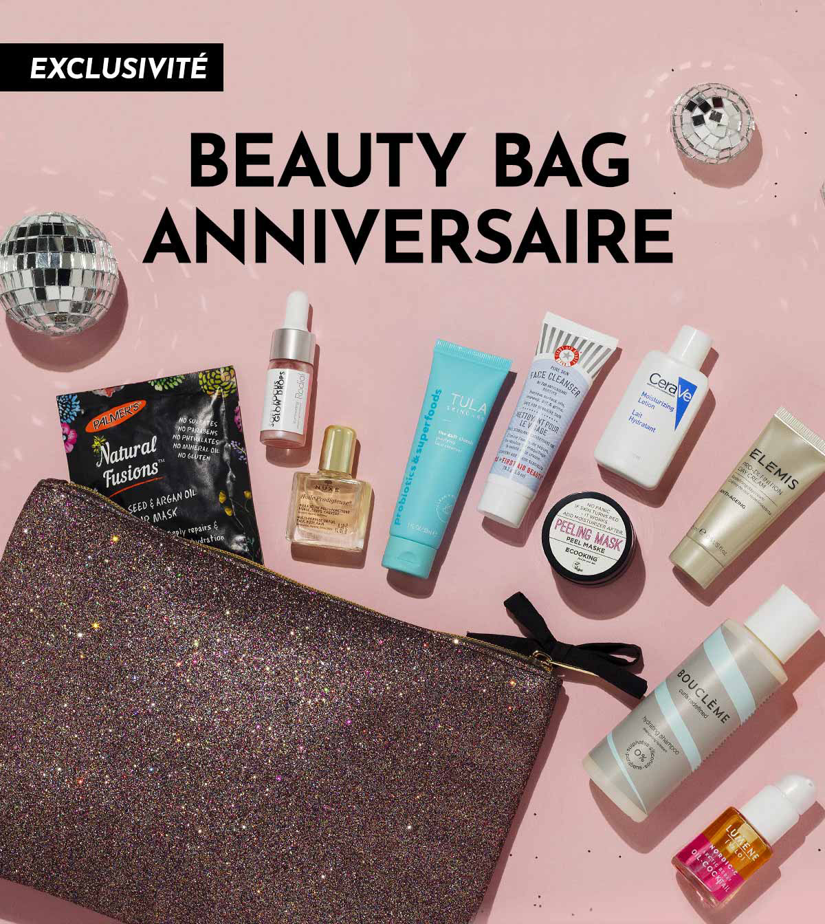 EXCLUSIVITÉ - BEAUTY BAG ANNIVERSAIRE