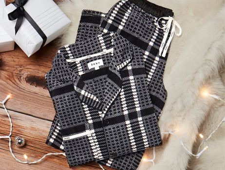 Fierce Chills Black And Grey Checked Fleece Pyjama Set